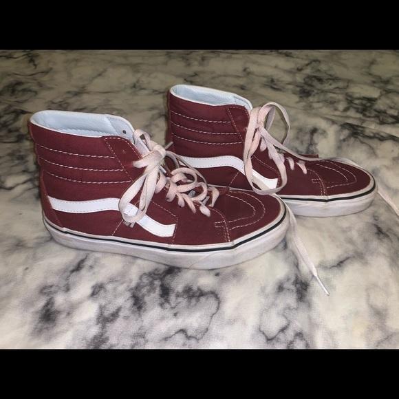 Vans Shoes | Dark Red Vans | Poshmark